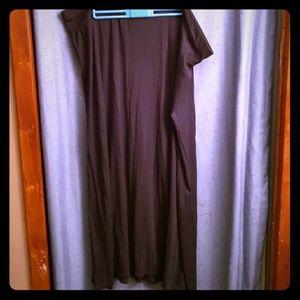 AVA & Viv long black skirt 3x